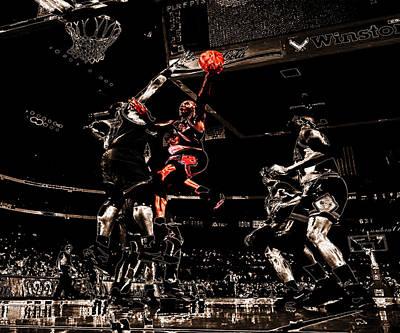 Patrick Ewing Digital Art - Air Jordan Left Hand by Brian Reaves