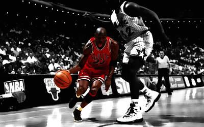 Shaquille Digital Art - Air Jordan On Shaq by Brian Reaves