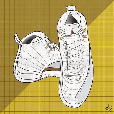 Air Jordan Drawing - Air Jordan Ovo 12 by Andres Alvarez