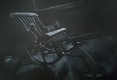 Empty Chairs Drawing - Air Loom  by Chris O'Hoski