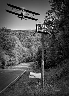 Surrealism Royalty-Free and Rights-Managed Images - Air Mail Delivery Maine Style by Bob Orsillo