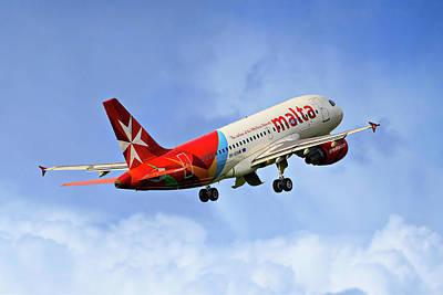 Photograph - Air Malta Airbus A319-112 by Nichola Denny
