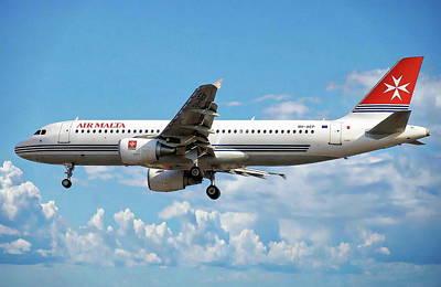 Photograph - Air Malta Airbus by Anthony Dezenzio