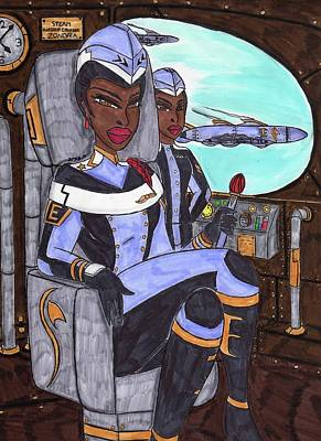 Air Marshal M'aghon   Art Print by Ronald Woods