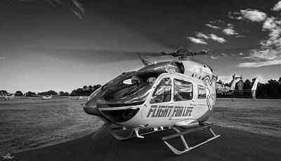Photograph - Air Methods Helicopter, Air Ambulence by Philip Rispin