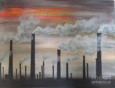 Painting - Air Pollution by Annemeet Hasidi- van der Leij