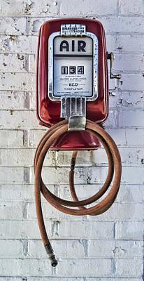 Old Texaco Gas Station Photograph - Tireflator by Stephen Stookey