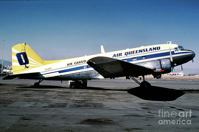 Fixed Wing Multi Engine Photograph - Air Queensland Douglas C-47a-20-dk, Vh-bpl by Wernher Krutein