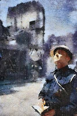 Warden Painting - Air Raid Warden by Esoterica Art Agency