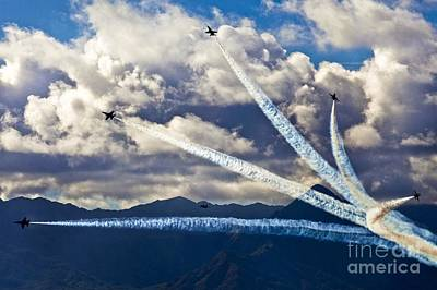 Painting - Air-show by Celestial Images