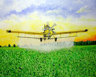 Painting - Air Tractor Crop Duster by Karl Wagner