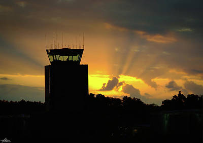 Photograph - Air Traffic Control Tower At Dawn by Phil Rispin