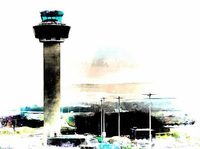 Photograph - Air Traffic Control Tower Stansted Airport by Dorothy Berry-Lound