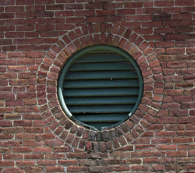 Photograph - Air Vent In Brick Wall by Bonnie Muir