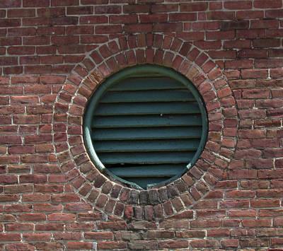 Photograph - Air Vent In Brick Wall by Bonnie Muir