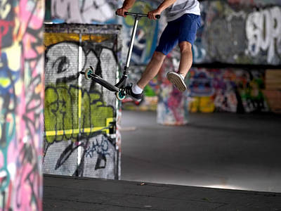 Graffitti Photograph - Airborne At Southbank by Rona Black