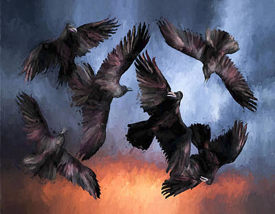 David Wagner Painting - Airborne Unkindness by David Wagner