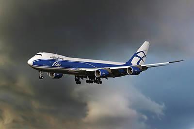 Airbridge Cargo Boeing 747-8hvf Art Print