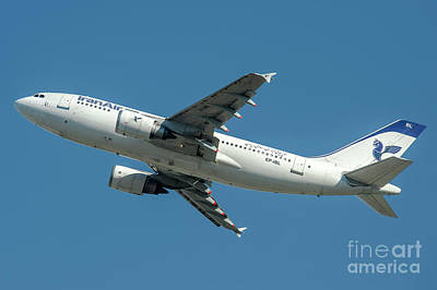 Commercial Photograph - Airbus A310 Departed From Malpensa Airport  by Roberto Chiartano