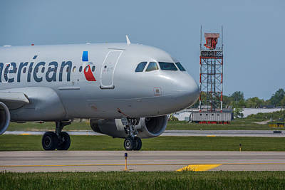 Photograph - Airbus A319  On Taxi by Guy Whiteley