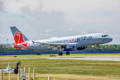 Photograph - Airbus A320 Boston Strong by Guy Whiteley