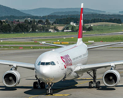 Jet Photograph - Airbus A330-300 Swiss Air Hb-jhg by Roberto Chiartano