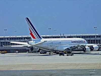 Airlines Photograph - Airbus A380 Air France by Lamyl Hammoudi