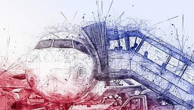 Digital Art - Airbus by Jos Verhoeven