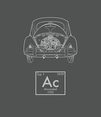 Aircooled Element - Beetle Art Print by Ed Jackson