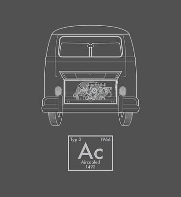 Transporter Digital Art - Aircooled Element - Bus by Ed Jackson