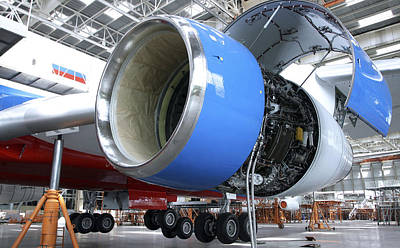 Assembly Hall Photograph - Aircraft Assembly Hanger by Ria Novosti