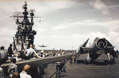 Painting - Aircraft Of Carrier Air Group 16 Return To The Uss Lexington Cv-16 During The Gilberts Operation,  by Celestial Images