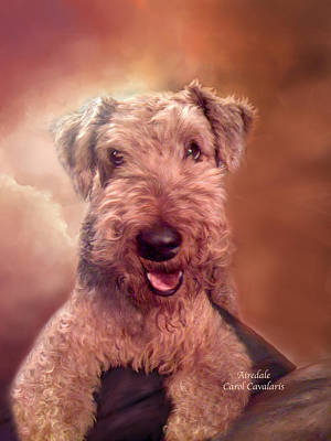 Mixed Media - Airedale by Carol Cavalaris