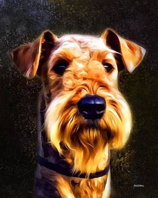 Terrier Digital Art - Airedale Terrier Portrait  by Scott Wallace