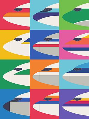 Airlines Digital Art - Airline Livery - Large Grid by Ivan Krpan