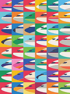 Airlines Digital Art - Airline Livery - Small Grid by Ivan Krpan