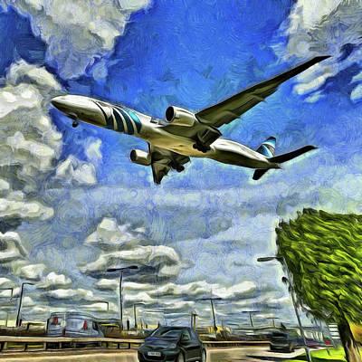 Photograph - Airliner Art by David Pyatt