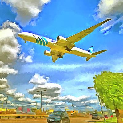 Photograph - Airliner Pop Art by David Pyatt