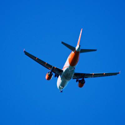 Photograph - Airplane Blue Sky by Eric Tressler