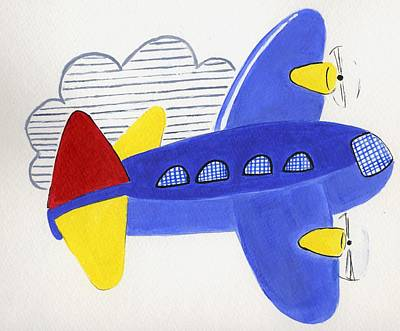 Airplane Art Print by Christine Quimby