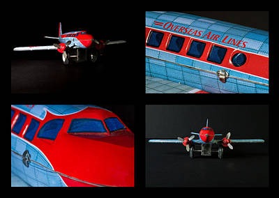 Tin Planes Photograph - Airplane Collage by Rudy Umans