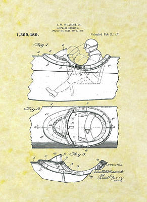 Drawing - Airplane Cowling Patent by Movie Poster Prints