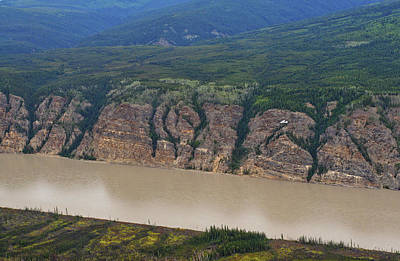 Photograph - Airplane Flying Over The Yukon River by Waterdancer