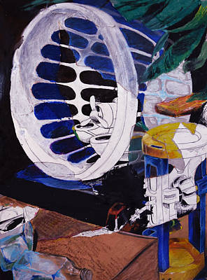 Mixed Media - Airplane In A Laundry Basket by Ellan Suder