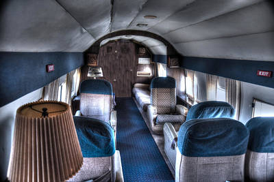 Photograph - Airplane Interior by Richard Gehlbach