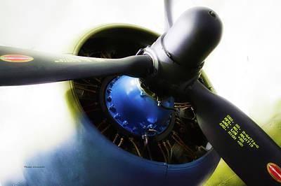 Airplane Military C47a Skytrain Engine Propeller Art Print