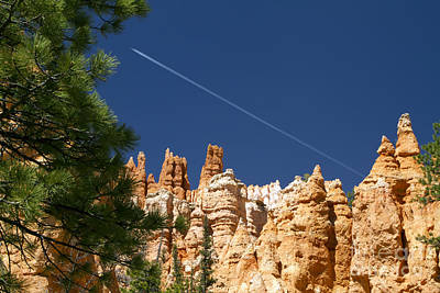 Photograph - Airplane Over Bryce Canyon by Waterdancer