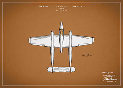 Airplane Photograph - Airplane Patent 1946 by Mark Rogan