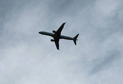 Photograph - Airplane Silhouette by Donna L Munro