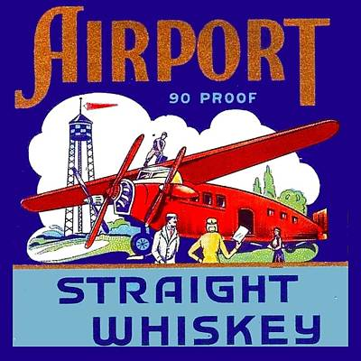 Digital Art - Airplane Whiskey by Marianne Dow